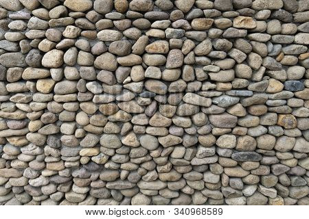 Texture For Designers Natural Pebbles. Background Of Round Stones, The Use Of Texture In The Design.