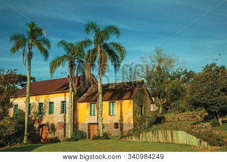 Countrified House In A Traditional Italian-influenced Style In The Middle Of A Lush Garden Near Bent