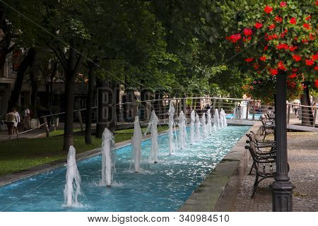 The Fountain In Bratislava, Slovakia, Historical Center