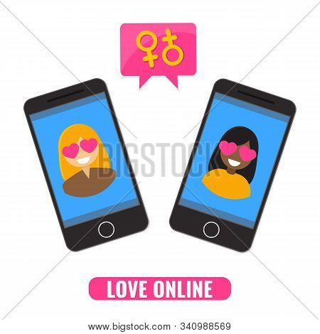 Love Online Concept. Online Dating, Dating Site, Web Application For Romantic Dating