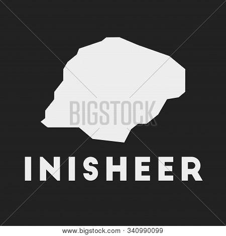 Inisheer Icon. Island Map On Dark Background. Stylish Inisheer Map With Island Name. Vector Illustra