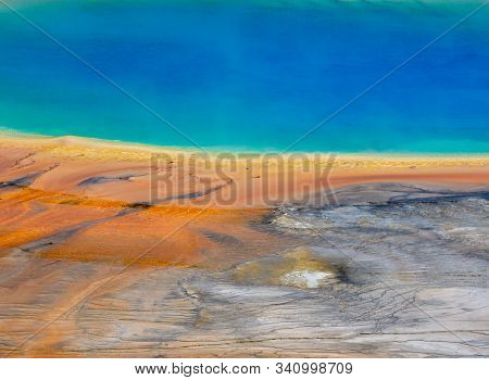 The Colors Of Grand Prismatic In Yellowstone Wilderness