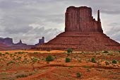 A stormy March day in Monument Valley Tribal Park, which borders both Arizona, and Utah. poster