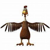 3 D Render of an Toon Chicken poster