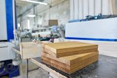 Wooden furniture details, background carpentry woodworking woodshop. poster