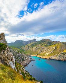 Panoramic Views Of The Cape Formentor. Majorca, Balearic Islands, Spain