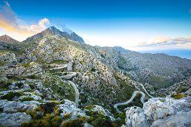 Famous Sa Calobra Road In Maloorca, Balearic Islands, Spain
