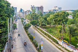 Bogra,bangladesh - November 4,2019 - In The Streets Of Bogra. This City Is Also Known As The Capital