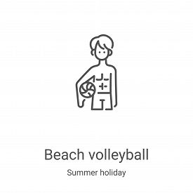 beach volleyball icon isolated on white background from summer holiday collection. beach volleyball