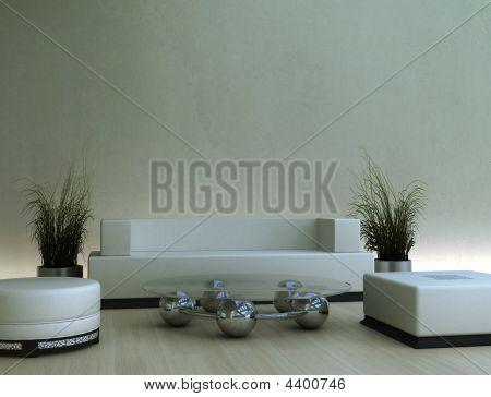 Interior In Soft Tan Tones