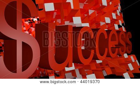 Success On 3D Patterned Background