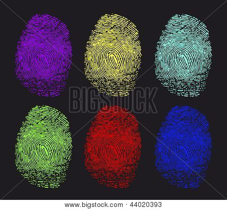 colored fingerprints