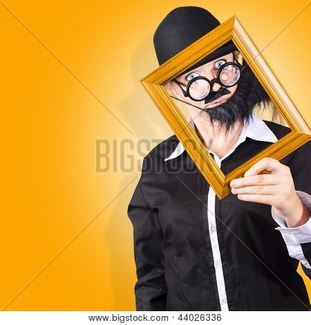 Person Setting Their Social Media Profile Picture