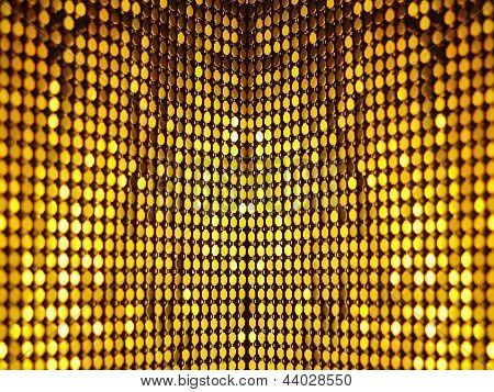 Golden disco sequins background