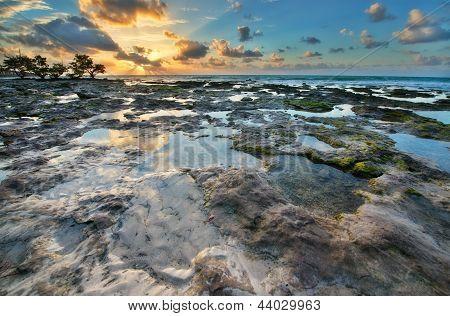 Erstaunliche Sonnenaufgang In Florida Island.
