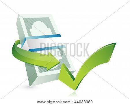 Monetary Approval Illustration Design