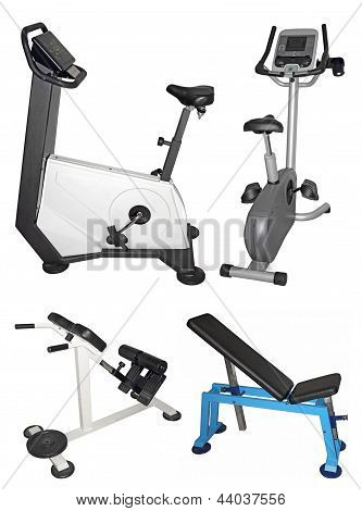 Stationary Bike And Bench