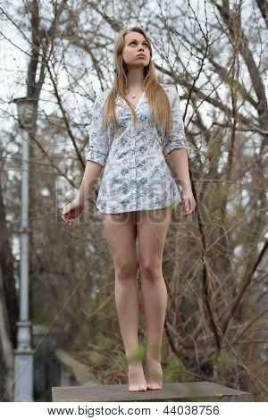 Leggy Blond Woman