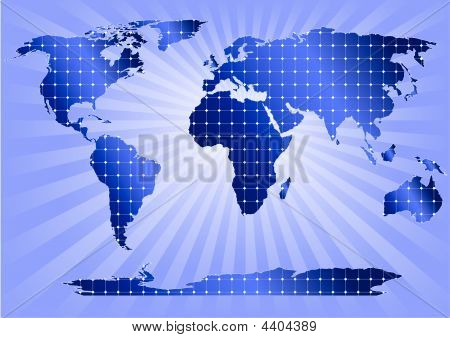Solar Panels Globally (blue Background)