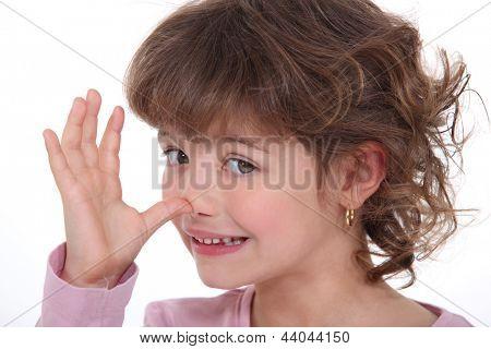 Girl making a mockery
