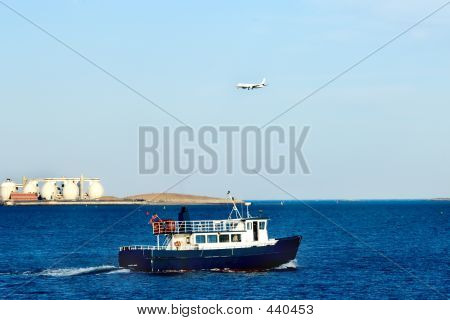 Boat And Airplane.
