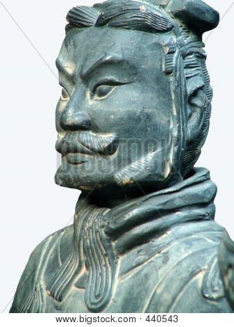 Terracotta Soldier Of Ancient Chinese Emporer Qin Shihuang(qin Dynasty).isolated
