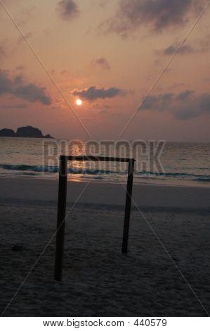 Beach Football Goal Pole