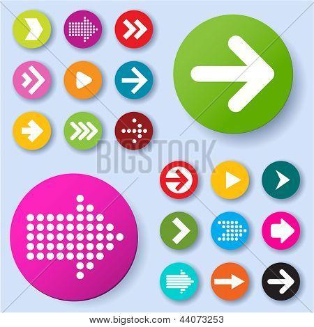 Conjunto de iconos de flecha. Vector.