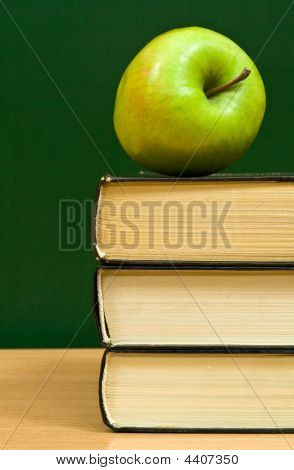 Books With A Green Apple