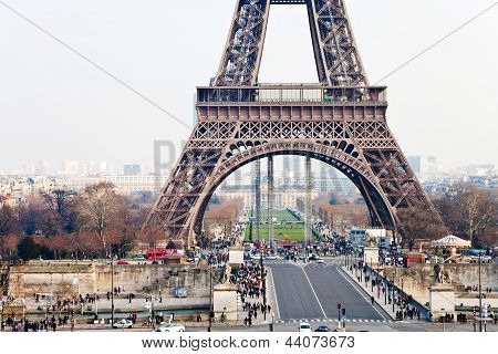 Pont D Iena And Eiffel Tower In Paris