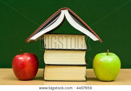 Cottage From Books And Apples