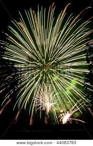 large fireworks display show