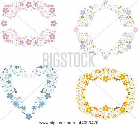 vignette with floral ornaments