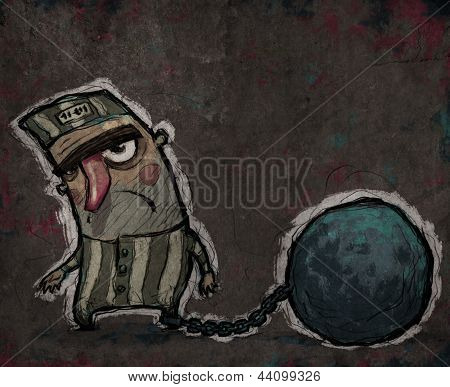 Prisoner With A Huge Metal Ball