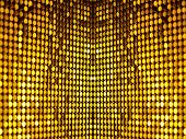 Golden black sequins textile background for disco, party, carnival or new years design. poster