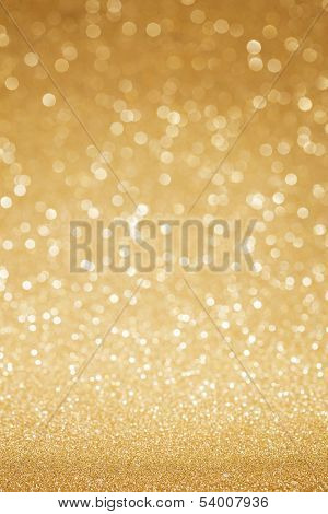 Golden glitter christmas abstract background poster