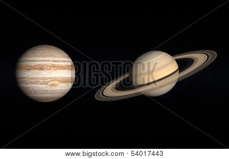 Planets Jupiter And Saturn