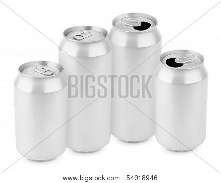 Group Of Aluminum Cans