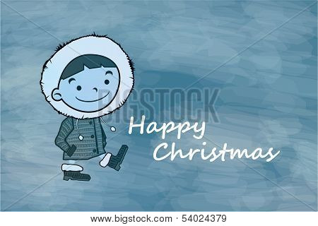 Winter Boy Happy Christmas