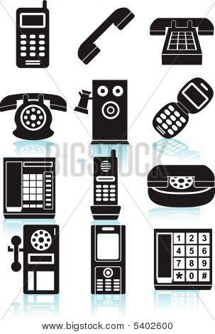 Phone Icons Black