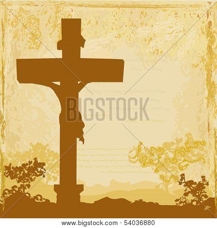 Jesus Christ Crucified , Grunge Background