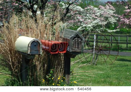 Rural Country Mailboxes