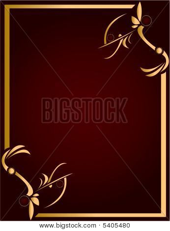Gold And Burgundy Background
