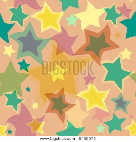 Abstract seamless background with translucent stars (vector) poster