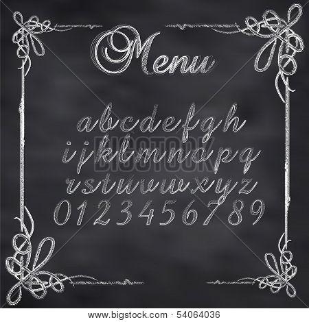 Vector sketched menu