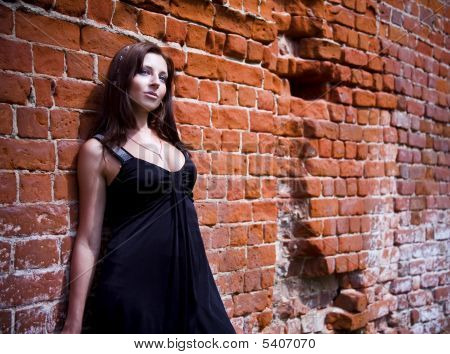 Charming Woman In Black Dress