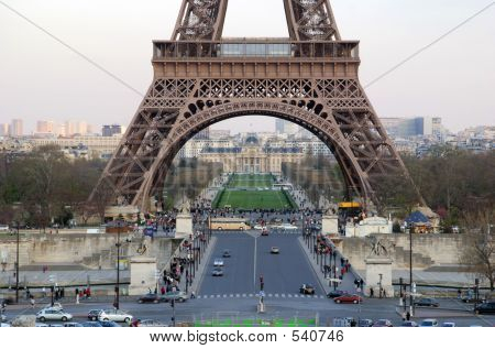 base of the eiffel tower - paris, france poster