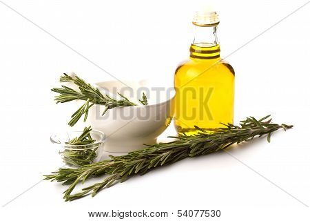 Fresh Organic Rosemary Isolated On White
