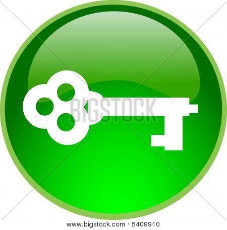 Green Key Button