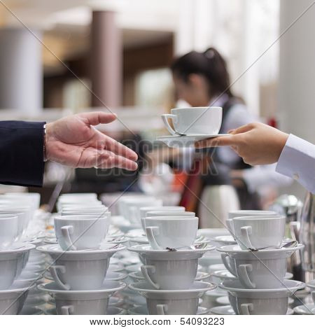 Offering A Coffee